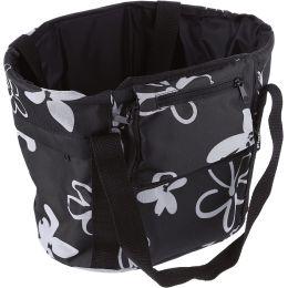 FISCHER Fahrrad-Lenker-Einkaufstasche, schwarz/weiß