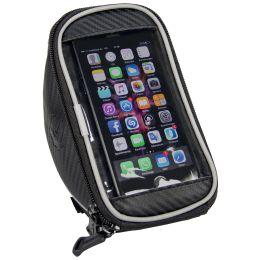 FISCHER Fahrrad-Lenkertasche mit Smartphonefach, schwarz