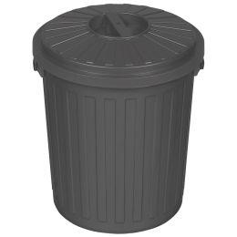 ok Abfalltonne Mini-Tonne mit Deckel, 7 Liter, graphite