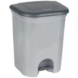 keeeper Tret-Abfallbehälter torge, 2x 11 Liter, silber