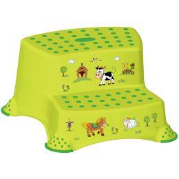keeeper kids Tritthocker igor funny farm, zweistufig, grün