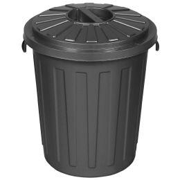 ok Abfalltonne Maxi-Tonne mit Deckel, 23 Liter, graphite