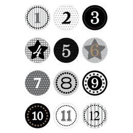 HERMA Weihnachts-Sticker DECOR Adventskalender, grau