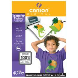 CANSON T-Shirt Transferfolie, DIN A4, für dunkle Textilien