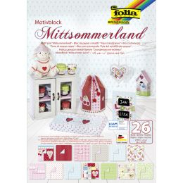 folia Motivblock Mittsommerland, 240 x 340 mm, 26 Blatt