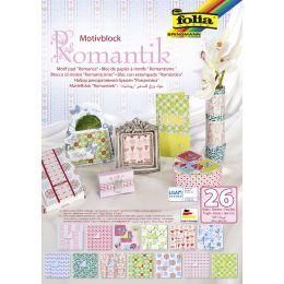 folia Motivblock Romantik, 240 x 350 mm, 26 Blatt