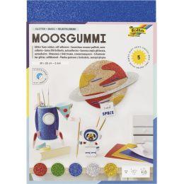 folia Glitter-Moosgummi II, 200 x 290 mm, 5 Blatt, sortiert