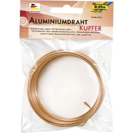 folia Aluminium-Basteldraht, 2 mm x 5 m, kupfer