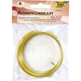 folia Aluminium-Basteldraht, 2 mm x 5 m, gold