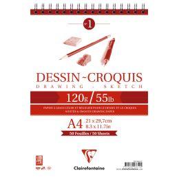 Clairefontaine Skizzenblock, DIN A5, 160 g/qm, 35 Blatt