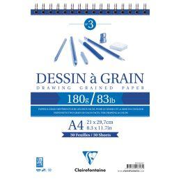 Clairefontaine Zeichenpapier-Spiralblok à Grain, DIN A5