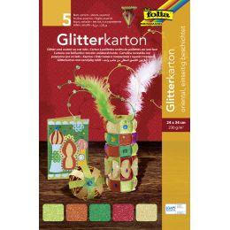folia Glitterkarton Oriental, 240 x 340 mm, 300 g/qm