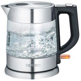 SEVERIN Glas-Wasserkocher WK 3468, Edelstahl / schwarz