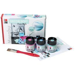Marabu Acryl-Softfarbe DECOR SOFT, Set Pure Style