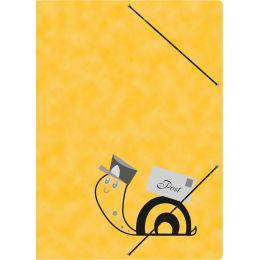 RNK Postmappe Schneckenpost mit Gummizug, gelb