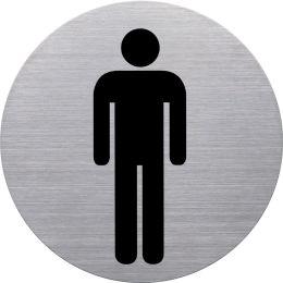 helit Piktogramm WC Behinderte, Durchmesser: 115 m, silber