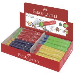 FABER-CASTELL Kunststoff-Radierer TRI, farbig sortiert