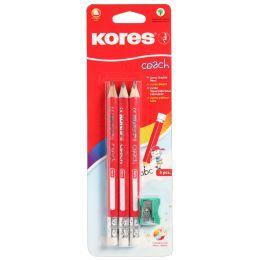 "Kores Bleistift COACH, dreieckig, H""rtegrad: 2 HB, 3er Pack"