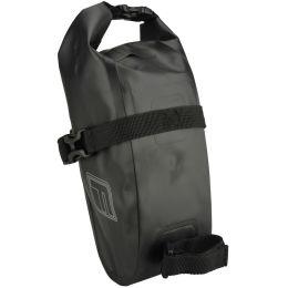FISCHER Fahrrad-Satteltasche Wasserdicht M, schwarz