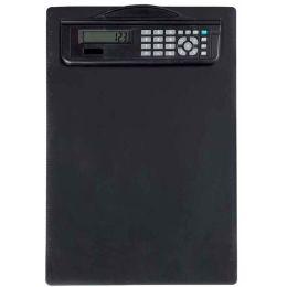 MAUL Klemmbrett mit Rechner, DIN A4, Kunststoff, schwarz