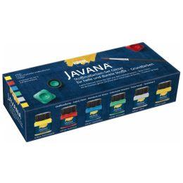 KREUL Textilfarbe JAVANA Glitter, Creativset 6 x 20 ml