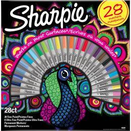 Sharpie Permanent-Marker FINE, 28er BIG PACK Pfau