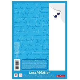 herlitz Löschpapierblock DIN A5, 80 g/qm, weiß