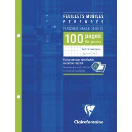 Clairefontaine Feuillets mobiles 170 x 220 mm, quadrillé 5/5