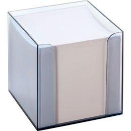 folia Zettelbox, Kunststoff, rauchglas, Füllung: weiß