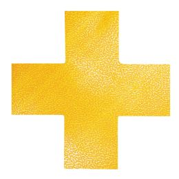 DURABLE Stellplatzmarkierung, Kreuz, selbstklebend, gelb