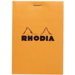 RHODIA Notizblock No. 12, 85 x 120 mm, kariert, orange