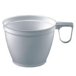 STARPAK Kunststoff-Kaffeetassen, 0,18 l, weiß, 60er