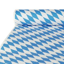 PAPSTAR Damast-Tischtuch Bayrisch Blau, auf Rolle