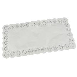PAPSTAR Tortenspitze, eckig, 400 x 200 mm, weiß