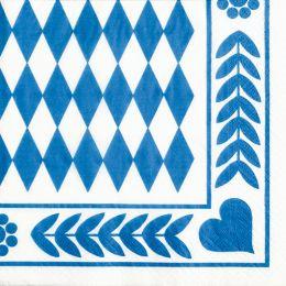 PAPSTAR Motivservietten Bayrisch Blau, 330 x 330 mm
