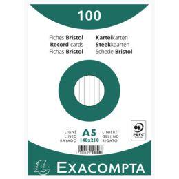 EXACOMPTA Karteikarten, DIN A5, liniert, weiß