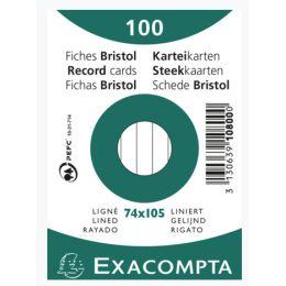 EXACOMPTA Karteikarten, DIN A7, liniert, grün