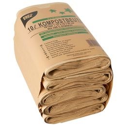 PAPSTAR Kompostbeutel, 10 Liter, braun, 10er