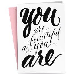 RÖMERTURM Grußkarte YOU are BEAUTIFUL as YOU ARE