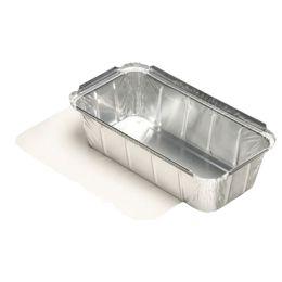 PAPSTAR Aluminium-Schale eckig, mit Deckel, 1.000 ml