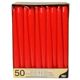 PAPSTAR Leuchterkerzen, 22 mm, rot, 50er Pack