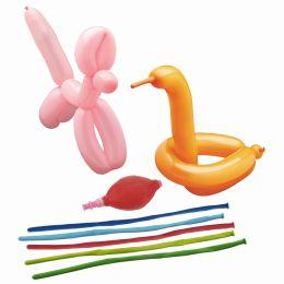 PAPSTAR Modellier-Luftballons, inkl. Pumpe