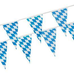 PAPSTAR Wimpelkette Bayrisch Blau, aus Folie