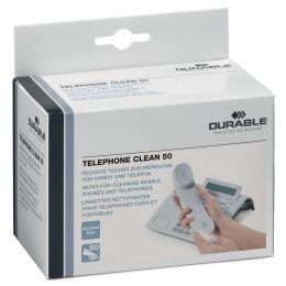 DURABLE Telefon-Reinigungstücher TELEPHONE CLEAN, 50 Stück