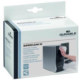 DURABLE Oberflächen-Reinigungstücher SUPERCLEAN 50, 50 Stück