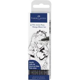 FABER-CASTELL Tuschestift PITT artist pen, Black Set