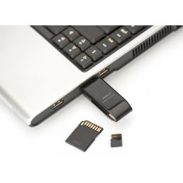 DIGITUS USB 2.0 Multi Card Reader Stick, SD / Micro SD