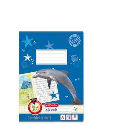 herlitz Geschichtenheft x.book, DIN A5, Lineatur 2G