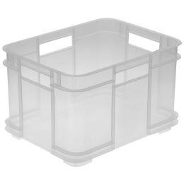 ok Aufbewahrungsbox Euro-Box M, 16 Liter, natur