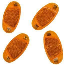 FISCHER Fahrrad-Speichenreflektoren-Set, orange